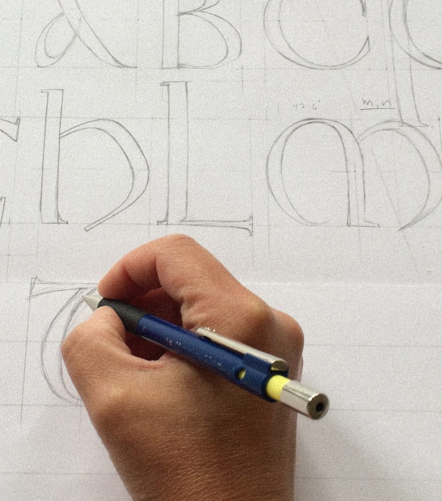 Hand drawing lettering